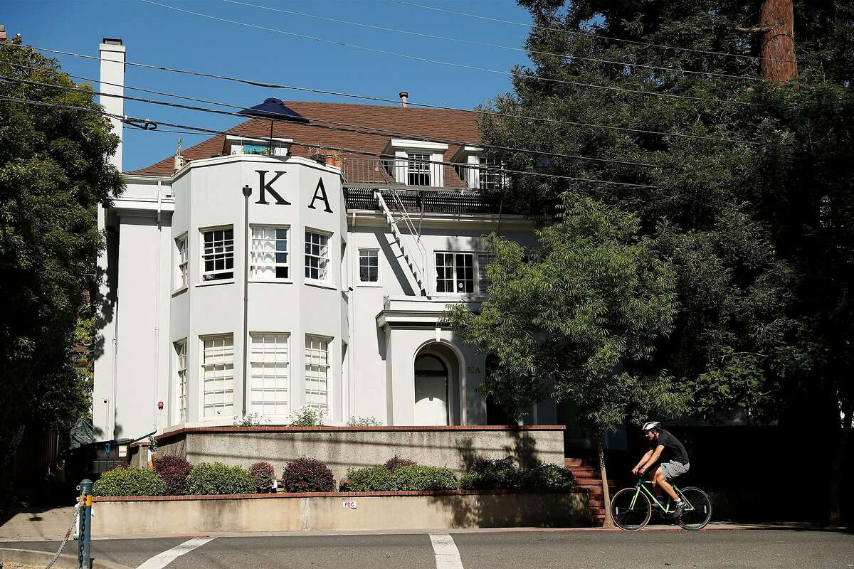 Kappa Alpha Order on fraternity row on Piedmont Avenue in Berkeley, Calif., on Wednesday, July 8, 2020. UC Berkeley has seen notable increase in students testing positive for COVID-19 over the last week .most related to fraternity parties.