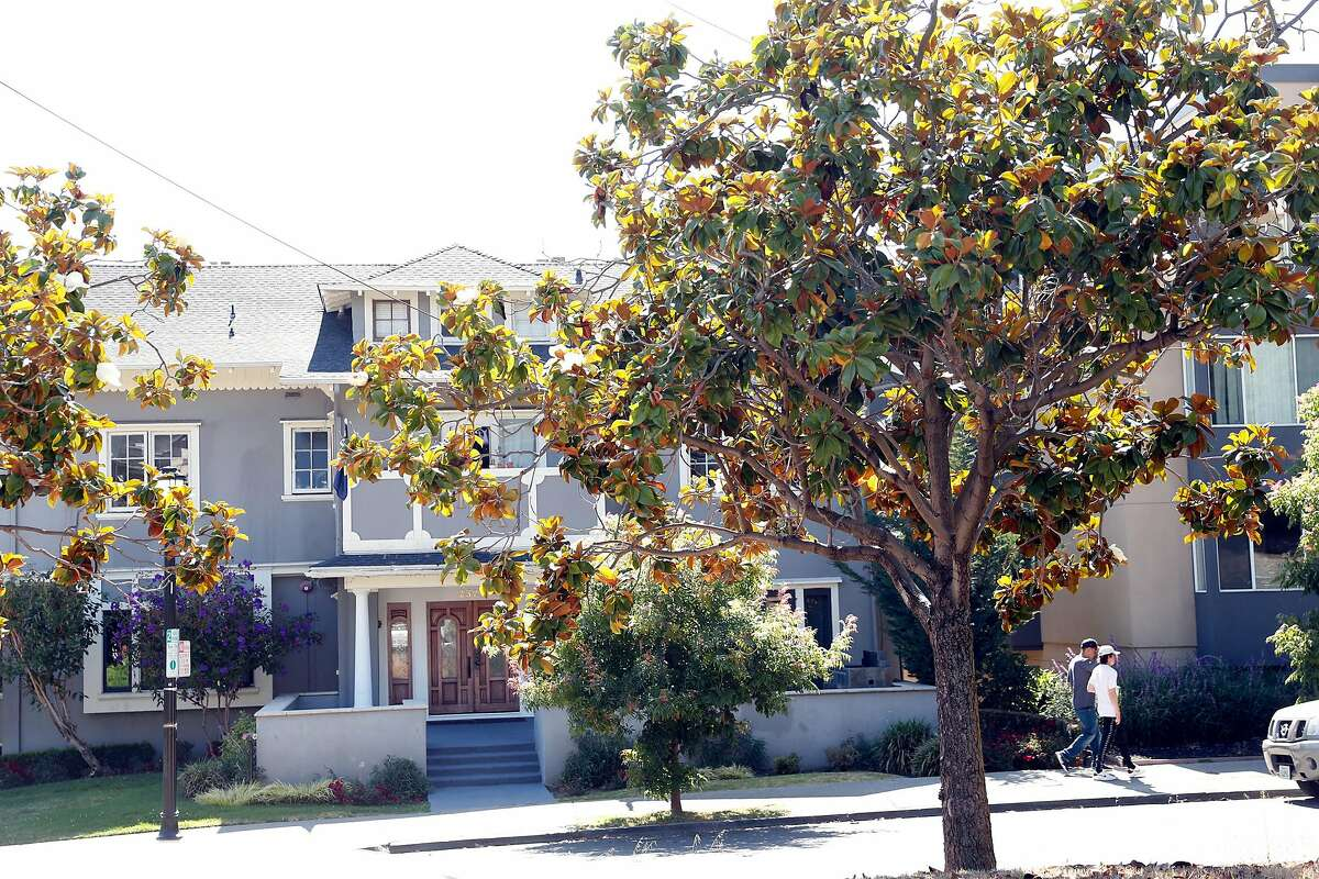 Pi Kappa Alpha on fraternity row on Piedmont Avenue in Berkeley, Calif., on Wednesday, July 8, 2020. UC Berkeley has seen notable increase in students testing positive for COVID-19 over the last week .most related to fraternity parties.