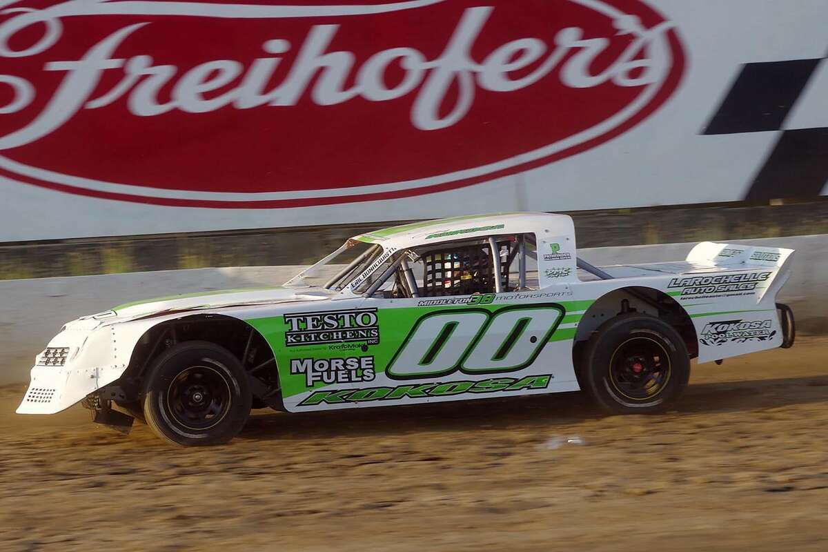 Colby Kokosa's race car, in which he made his Sportsman debut this past weekend. (Mark Brown photo)