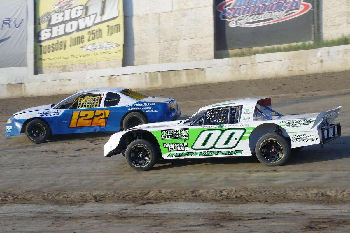 Colby Kokosa races his Sportsman division car (00). (Mark Brown photo)