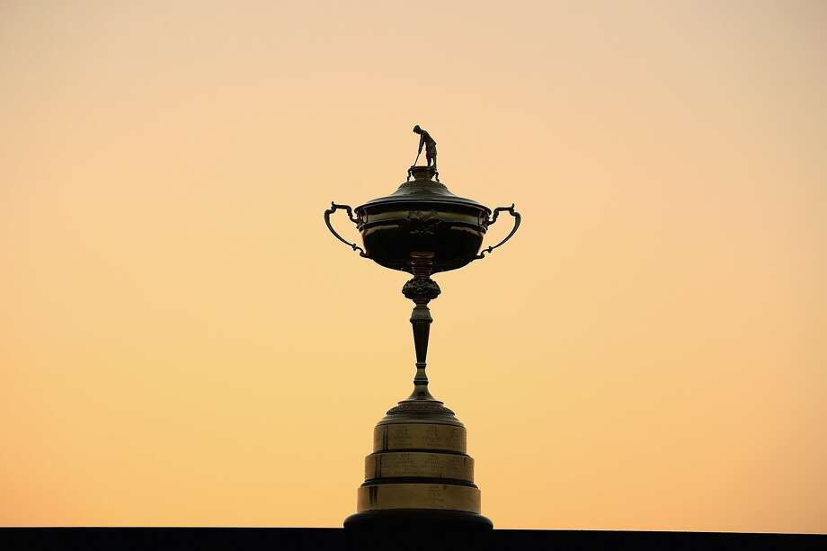 The Ryder Cup trophy is pictured in 2017 in Paris. Photo: Andrew Redington / Getty Images