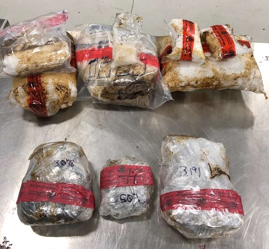 Shown are the 16.13 pounds of heroin and 26.74 pounds of methamphetamine worth more than $900,000 seized by U.S. Customs and Border Protection officers. Photo: Courtesy