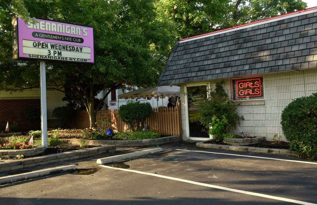 Exterior of Shenanigans strip club on Wednesday, July 8, 2020 in Schenectady, N.Y. (Lori Van Buren/Times Union)