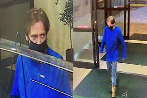 This man is wanted by police for questioning regarding a robbery at the Holiday Inn hotel on Newtown Road in Danbury, Conn.