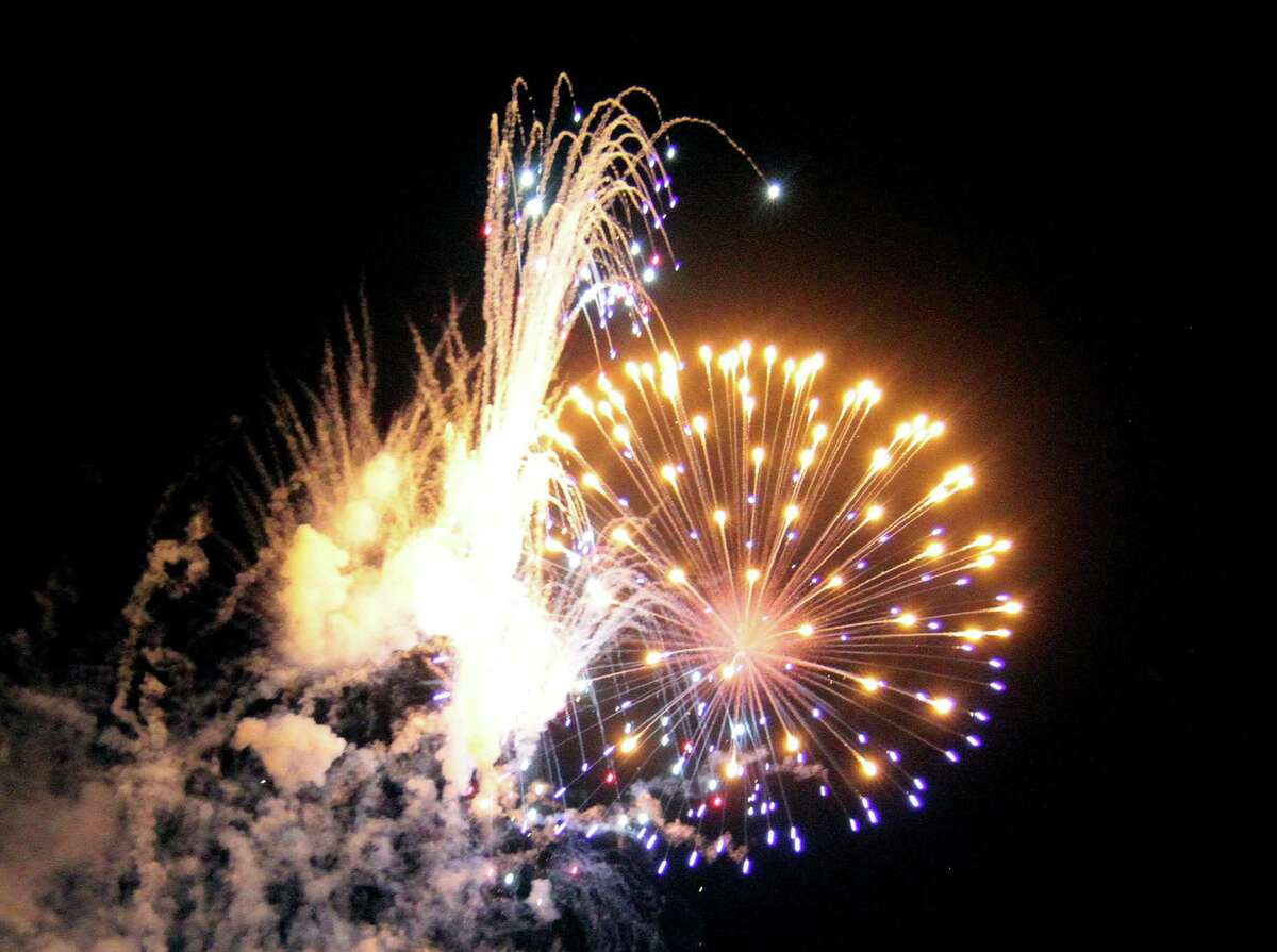 Fireworks, such as the July 4th holiday fireworks display is held at Veterans Memorial Park in Shelton in July, will be on display in the city to ring in the new year.