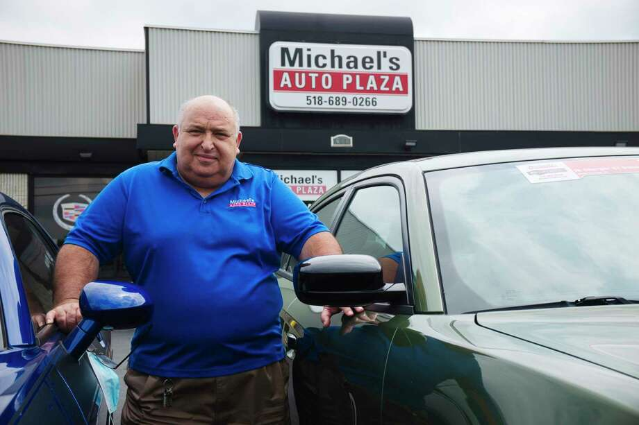 Michael Rubinchuk, owner of Michael's Auto Plaza, poses for a photo at his business on Tuesday, July 7, 2020, in East Greenbush, N.Y.  (Paul Buckowski/Times Union) Photo: Paul Buckowski, Albany Times Union / (Paul Buckowski/Times Union)