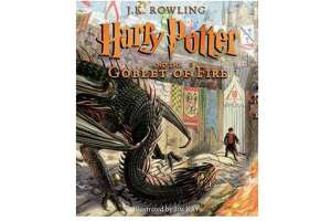 Harry Potter and the Goblet of Fire: The Illustrated Edition , $17.74 on Amazon