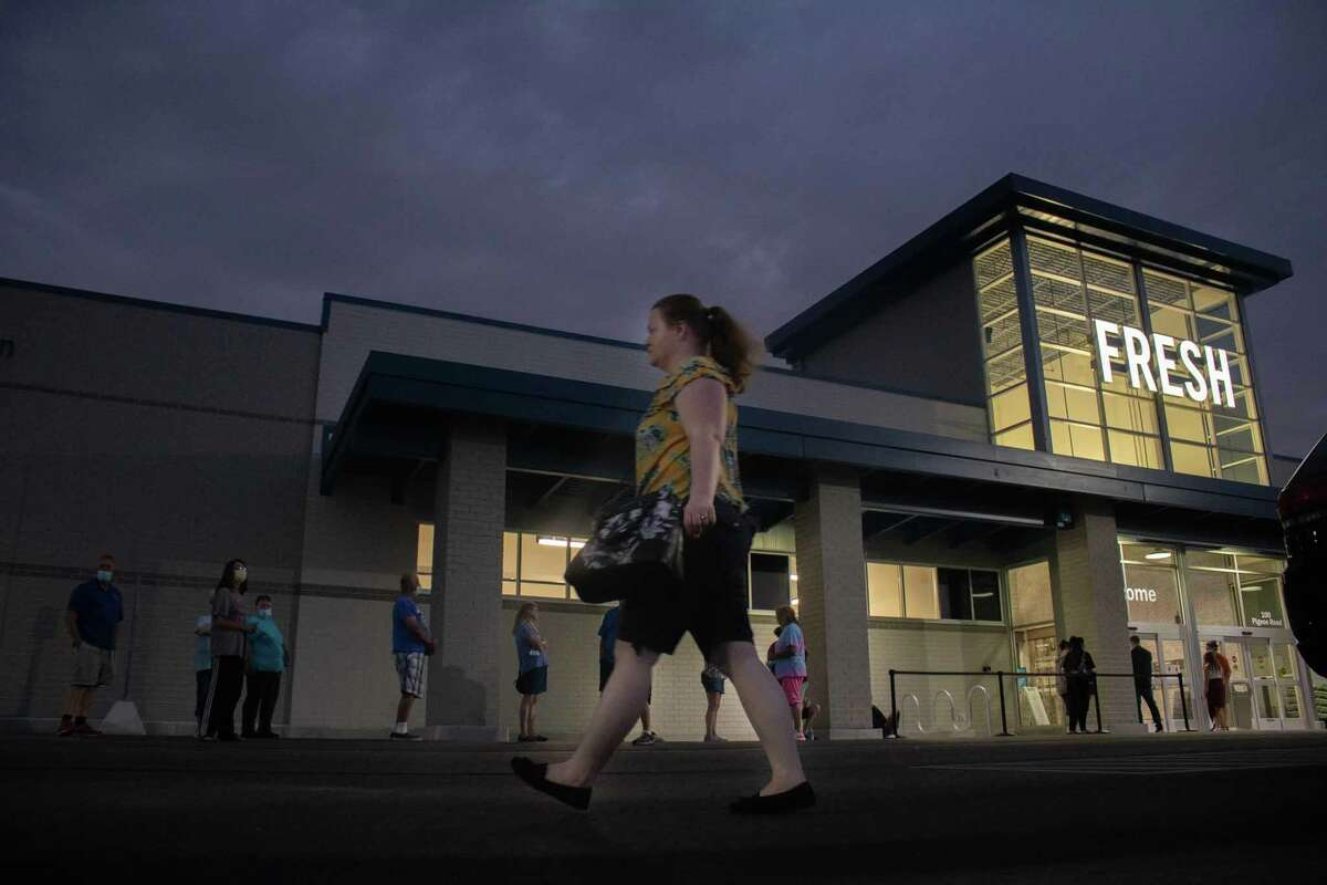 The new Bad Axe Meijer opened July 9 at 6am. Locals lined up outside, while observing mask wearing and social distancing, to wait for the long-anticipated grocery store to be unveiled.