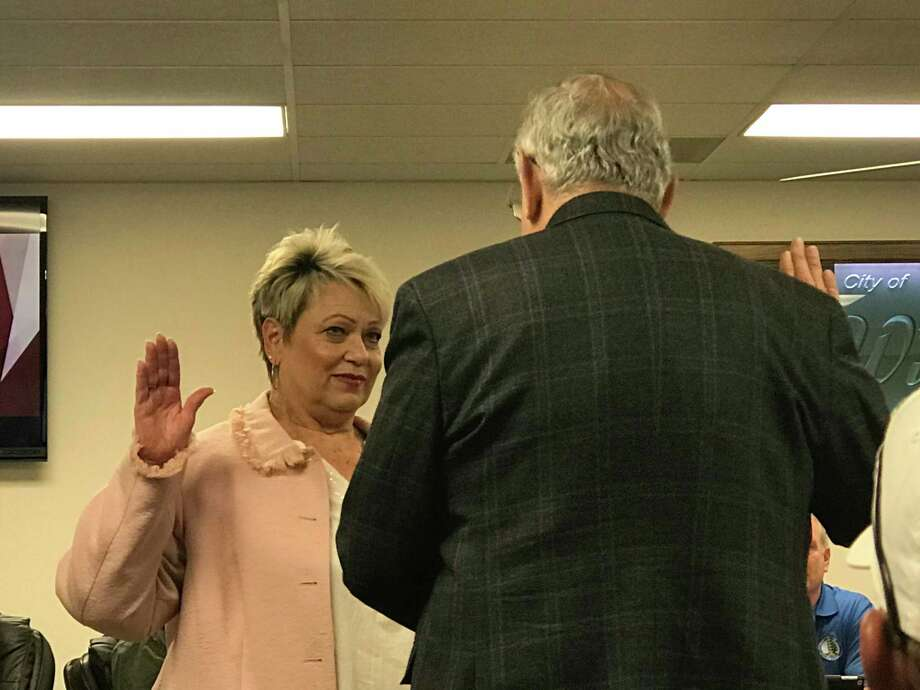 Councilwoman Teresa Herod was sworn in on Tuesday, December 18, 2019 to fill the unexpired term of Tamara Young-Hector on the Willis City Council. Photo: Meagan Ellsworth / Meagan Ellsworth