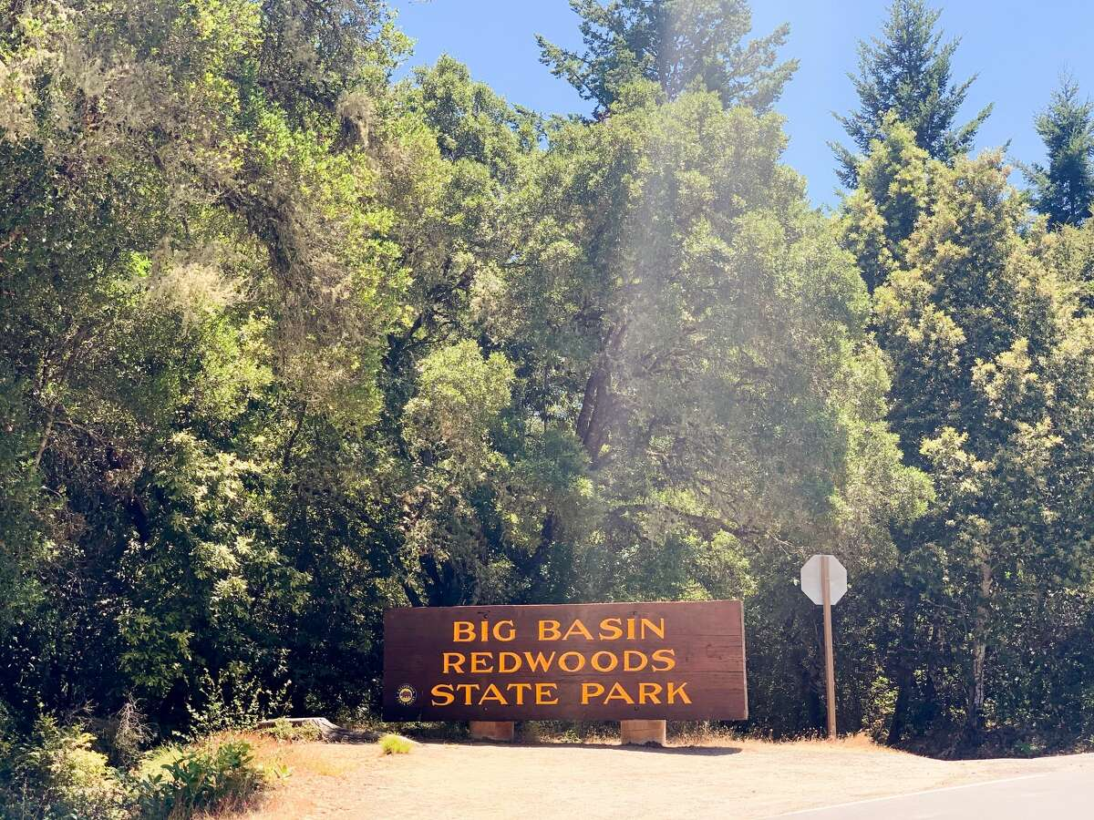 The sign at the entrance to Big Basin Redwoods State Park.