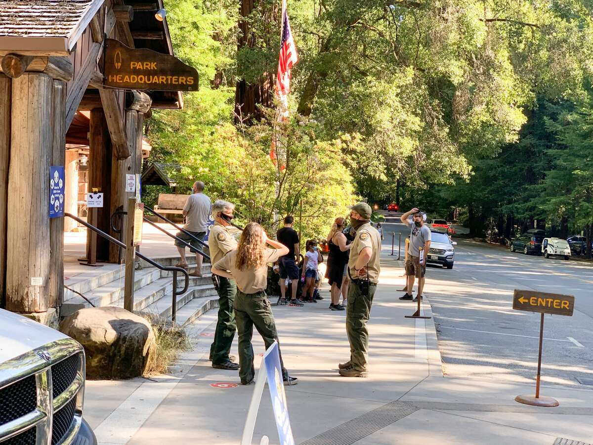 All of the rangers we encountered at Big Basin Redwoods State Park were wearing masks.