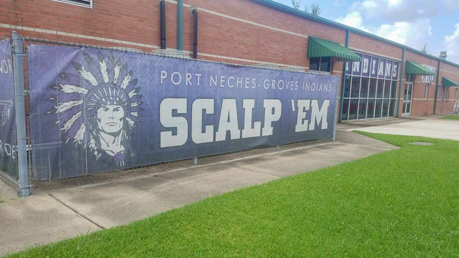 This sign outside the football field house at Port Neches-Groves High School was photographed on July 9, 2020. Fran Ruchalski / Beaumont Enterprise Photo: Fran Ruchalski / Beaumont Enterprise