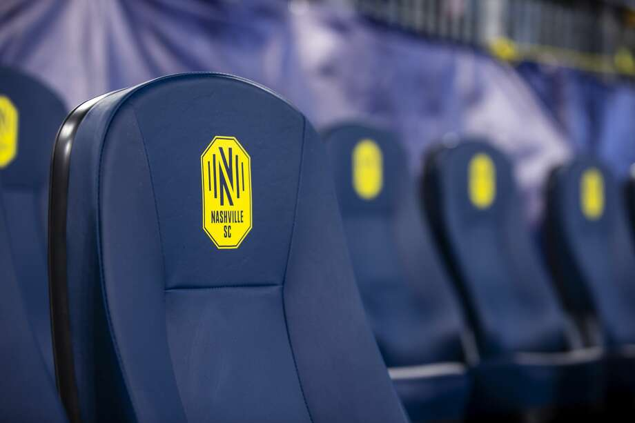 NASHVILLE, TN - FEBRUARY 29: Detail view of Nashville SC logo on player seats before the match against the Atlanta United at Nissan Stadium on February 29, 2020 in Nashville, Tennessee. (Photo by Brett Carlsen/Getty Images) Photo: Brett Carlsen/Getty Images / 2020 Getty Images
