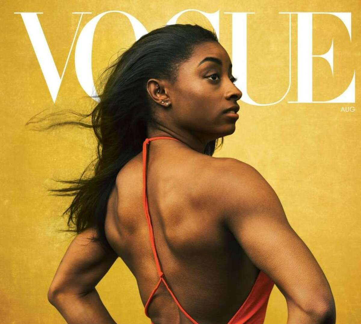 Simone Biles on the cover of the August 2020 issue of Vogue magazine