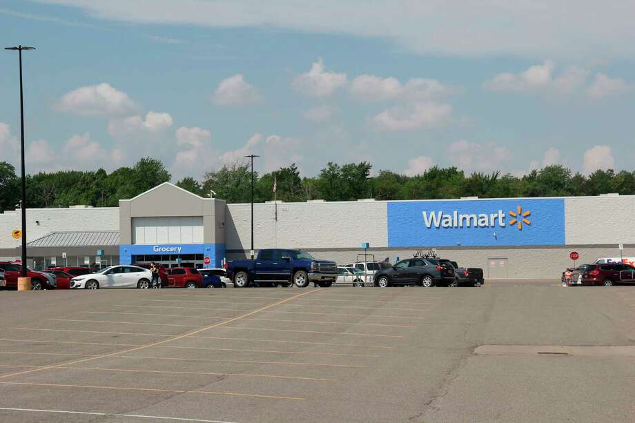 The Walmart in Bad Axe. This location joined other Michigan Walmart's in implementing policies meant to limit the spread of the coronavirus. (Robert Creenan/Huron Daily Tribune)