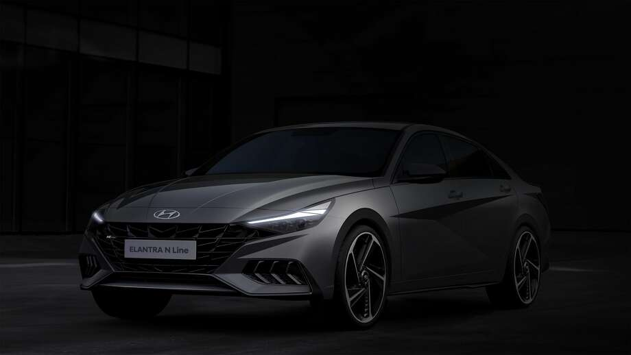 Hyundai Motor Company released a design rendering of the new Elantra N Line sport sedan. Photo: Hyundai Motor America /