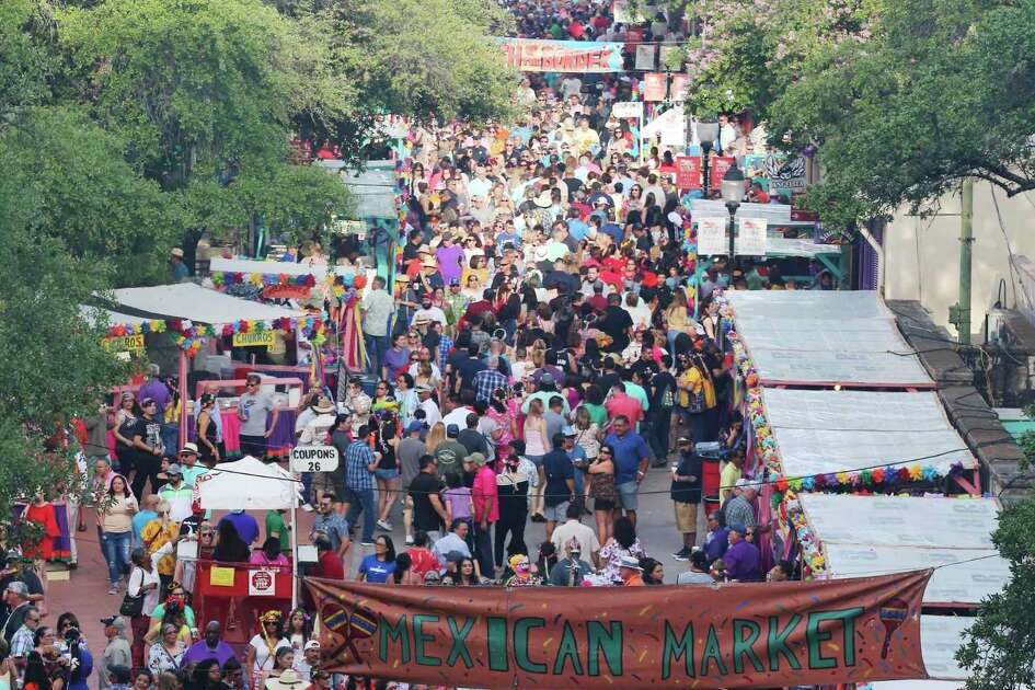 This is the normal scene at A Night In Old San Antonio: crowds packing La Villita. But because of the novel coronavirus, Fiesta was put on hold earlier this year.