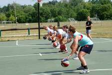 The Big Rapids girls' basketball team has been participating in various summer drills and doing all it can to stay fit, while complying with MHSAA social-distancing guidelines.
