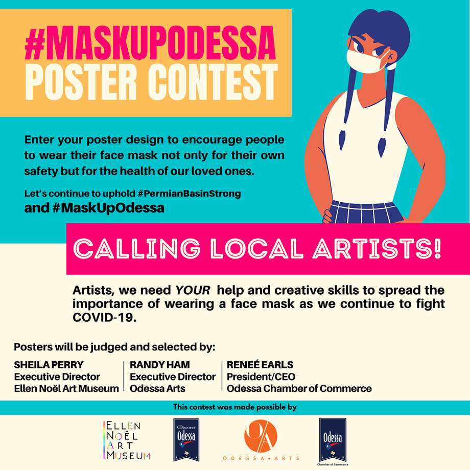 The Ellen Noel Art Museum has launched a #MaskUpOdessa contest to help encourage the community to wear a mask. The museum hopes to spread the message that wearing a mask is important not only for individual safety but also for the health of others and loved ones, according to a press release. Photo: Courtesy Photo