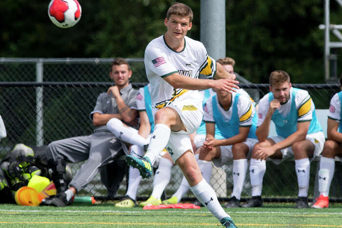 Siena soccer player Antonio Linge hopes to return to campus from his native Germany on Aug. 2. But those plans are on hold because of the coronavirus travel ban.