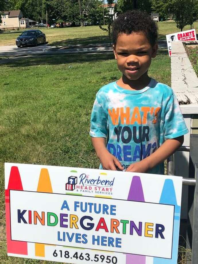 There were over 300 preschool children that completed Riverbend Head Start and Family Service's preschool program during the pandemic. They continued to learn with virtual classrooms and are set to attend kindergarten this fall. Photographed are just a few of the children after staff recognized their achievements with yard signs. Photo: Submitted
