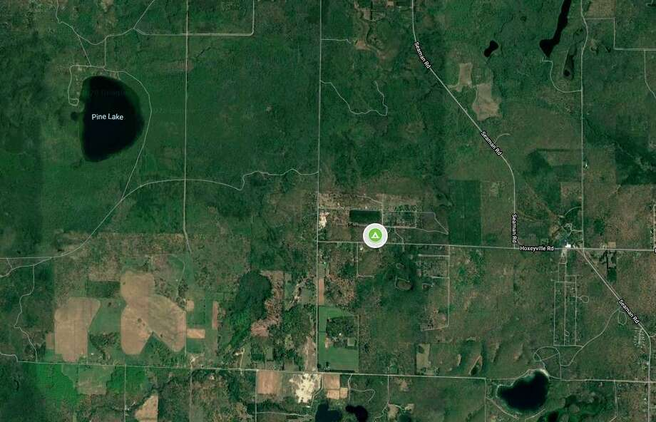 Debi Bair had previously said she bought 20 acres near the corner of Hoxeyville and Fawn roads in Norman Township and had planned to turn it into Camp Happy Trees. She had hoped to open it as a rustic, cannabis-friendly campground this month. The intended location was south of Wellston and southeast of Pine Lake. (Google maps screenshot)