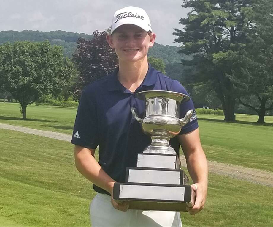 Madison's Matt Doyle is the 70th Connecticut Junior Amateur champion, defeating Shelton's Kyle St. Pierre in the final Thursday at Watertown Golf Club. Photo: Joe Morelli / Hearst Connecticut Media