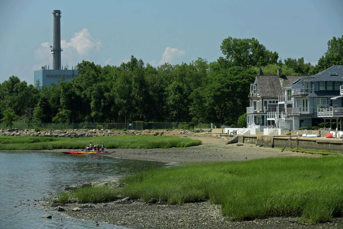 The Manresa Power Plant in Norwalk Conn. on Thursday July 9, 2020. Residents of Harborview worry that storgae for the Walk Bridge project would bring unwanted traffic to the island.