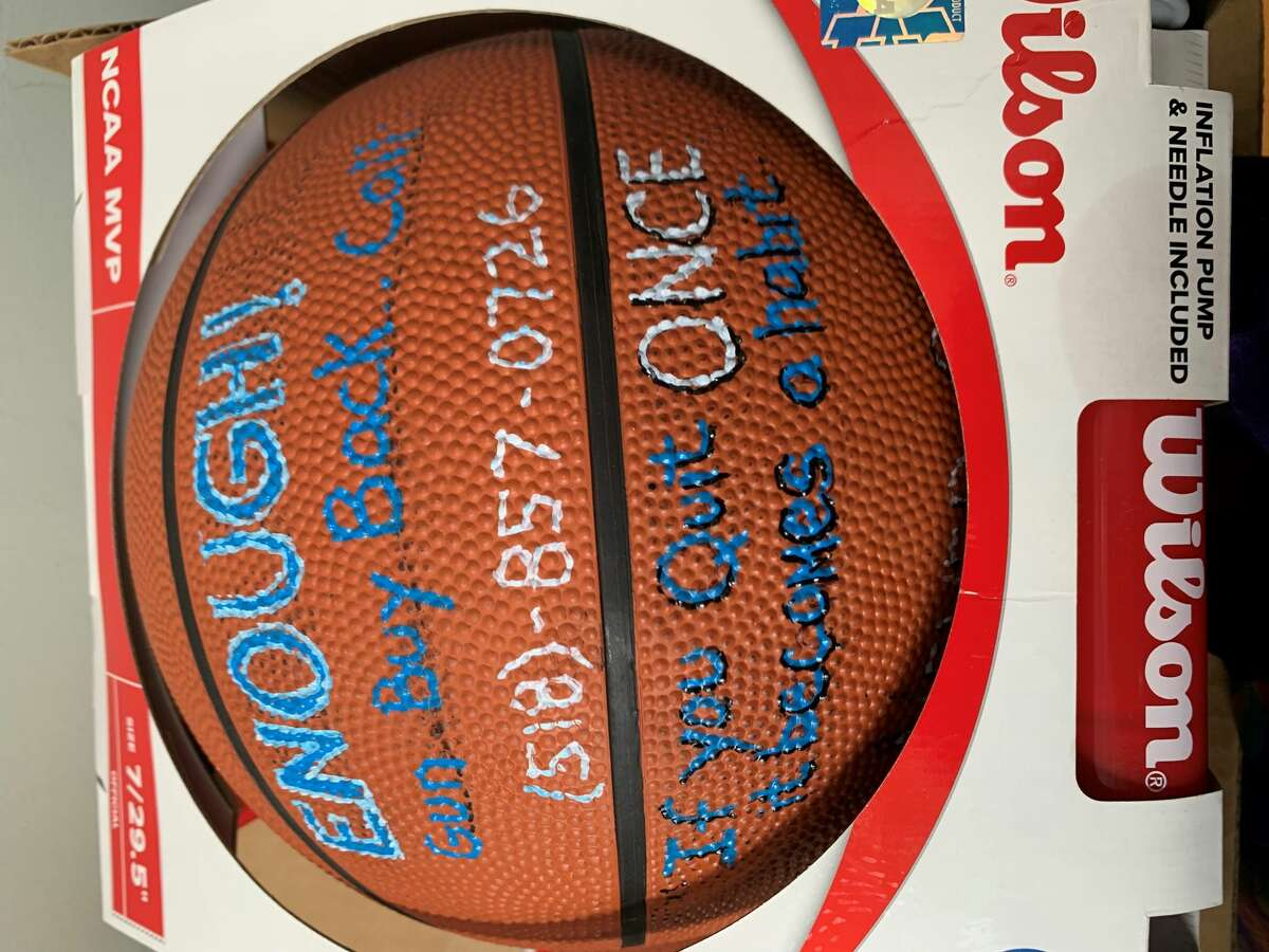 Victory Church is handing out free basketballs at courts and playgrounds all over the Albany area. Each basketball is adorned with the phone number of a gun-turn-in program and quotes from superstars like Kobe Bryant, LeBron James and Michael Jordan.