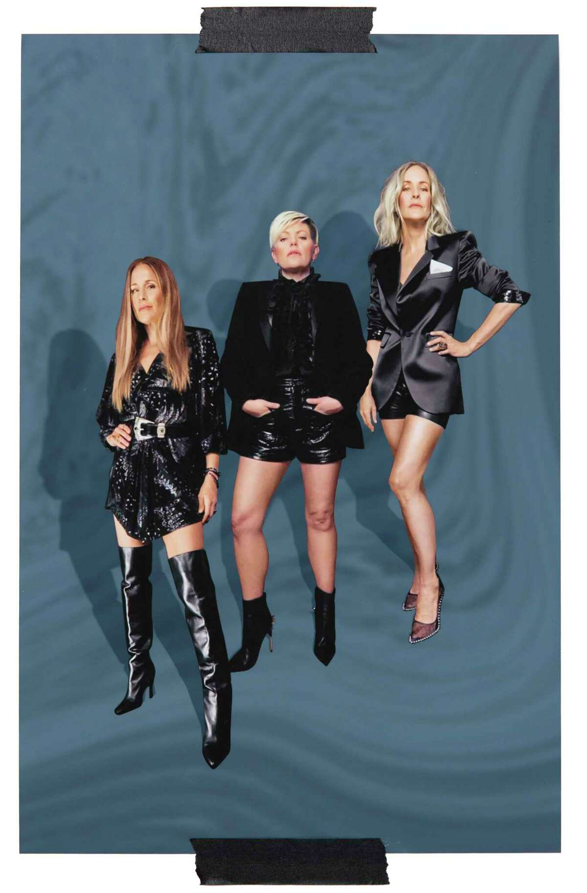 A photo illustration of, from left, Emily Strayer, Natalie Maines and Martie Maguire of the Chicks, photographed via FaceTime. The trio formerly known as the Dixie Chicks is returning with its first album in 14 years, at peace with an industry thata€™s never made nice. (Photo Illustration by Sam Cannon/The New York Times) -- NO SALES; FOR EDITORIAL USE ONLY WITH NYT STORY CHICKS GASLIGHTER BY AMANDA HESS FOR JULY 8, 2020. ALL OTHER USE PROHIBITED. --