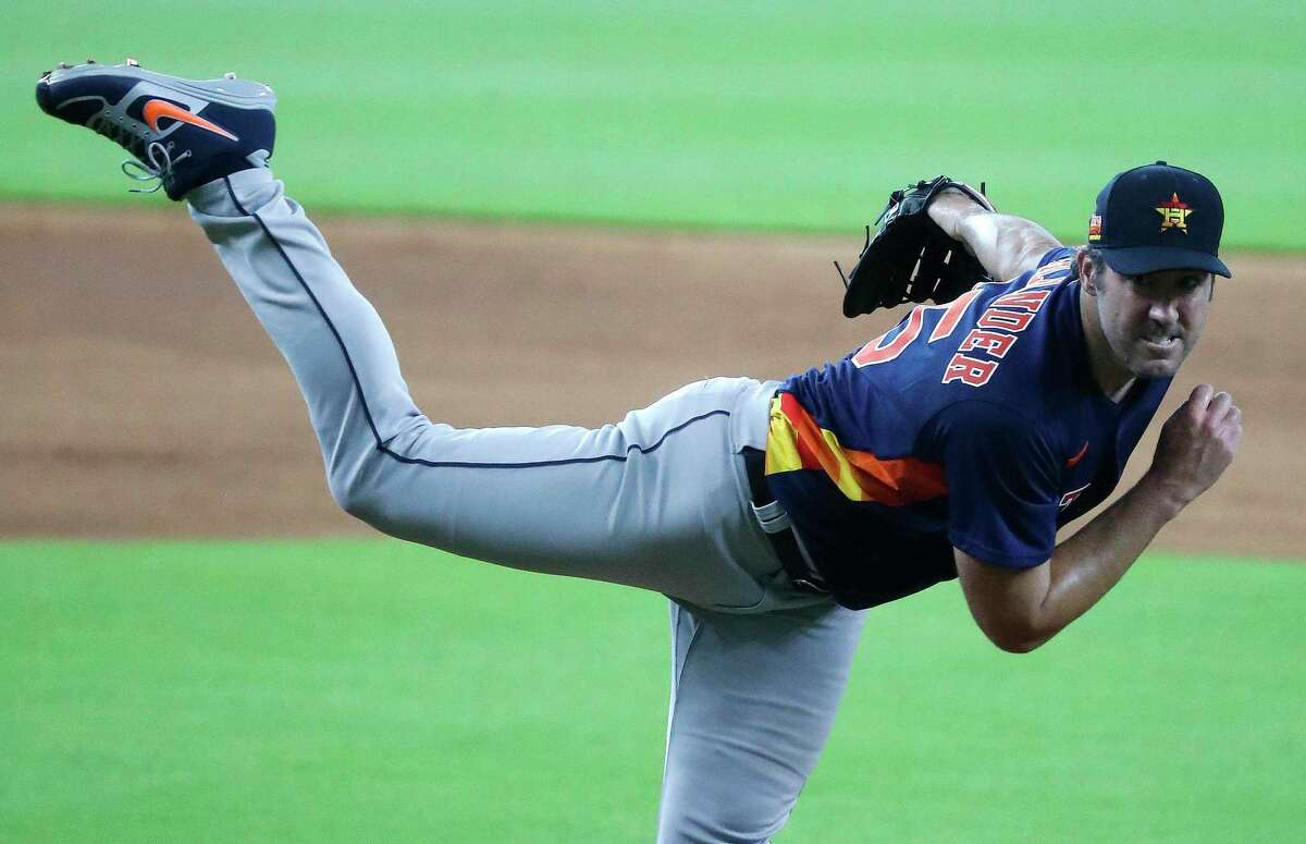 Facing what was pretty much the Astros' everyday lineup, Justin Verlander threw three hitless innings in Thursday's intrasquad game, striking out five of the 10 batters he faced.