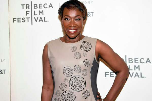 """FILE - In this April 20, 2018 file photo, Joy Reid attends the Tribeca TV screening of """"Rest in Power: The Trayvon Martin Story"""" during the 2018 Tribeca Film Festival in New York. MSNBC has picked Reid to fill the 7 p.m. hour that was vacated by longtime host Chris Matthews in early March. When Reid debuts her new show, """"The ReidOut,"""" on July 20, she will become the only black woman to host a daily prime-time cable news program, a designation that takes on particular significance amid the industry-wide reckoning spawned by the killing of George Floyd and the nationwide protests that followed. (Photo by Evan Agostini/Invision/AP, File)"""