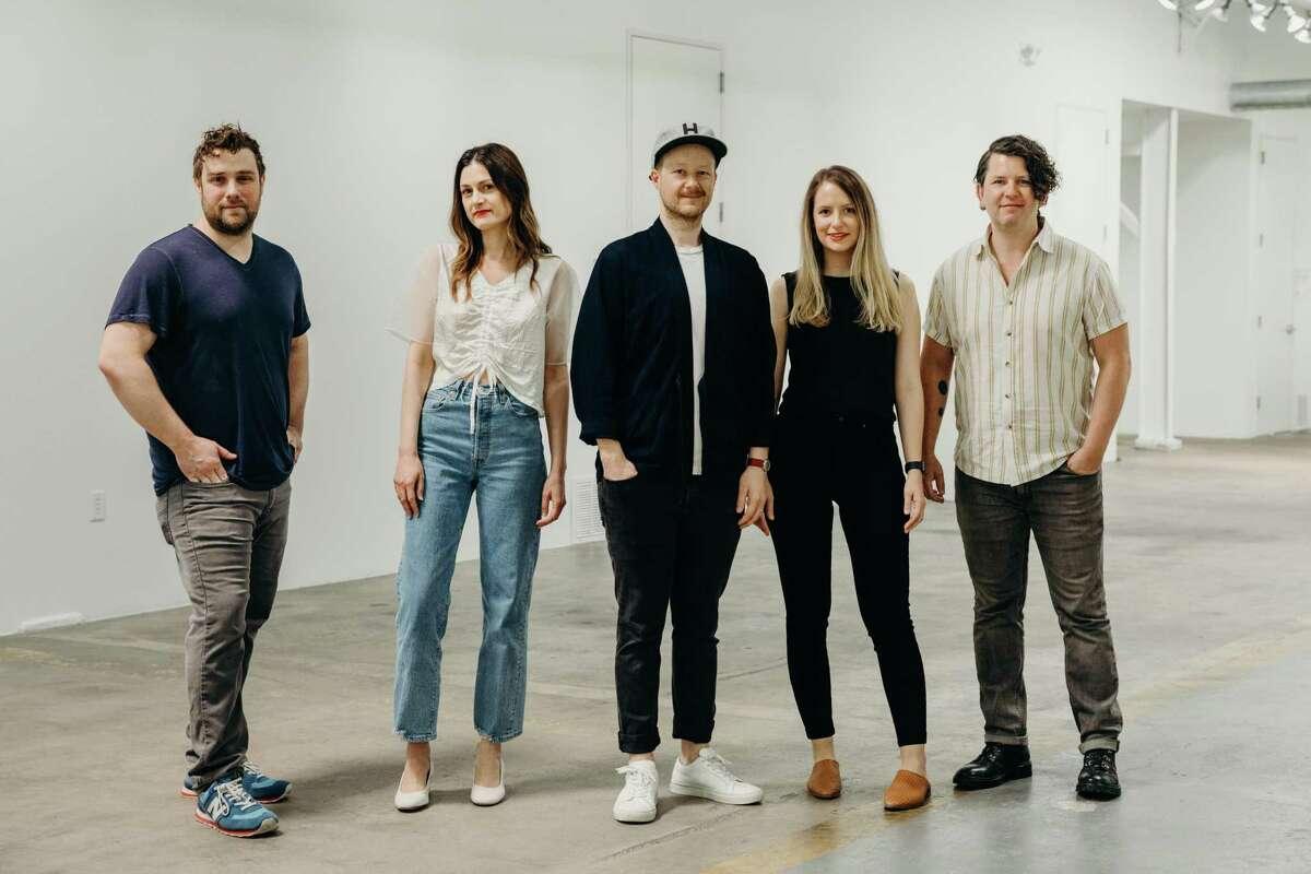 From left:Mike Garman, Kari Breitigam, Jeff Gilmer, Kathrine Zeren Gilmer and Erick Sandlin of Pretti.Cool
