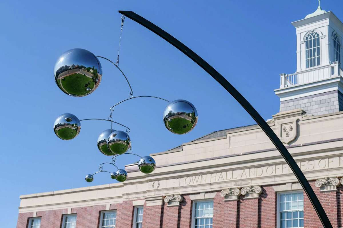 Gilbert Boro's sculpture on the New Canaan