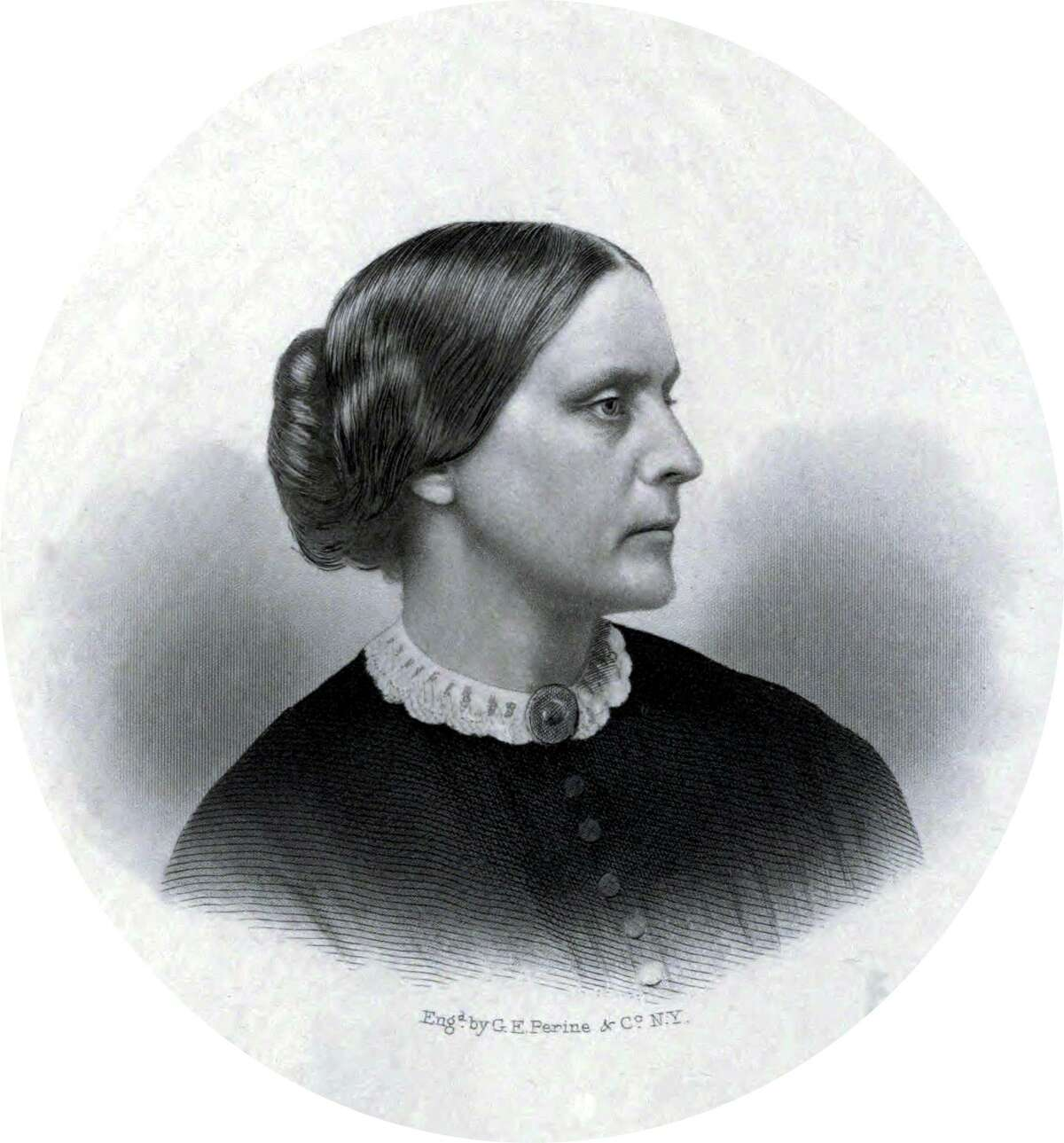 Women's suffragist Susan B. Anthony was born in Adams, Mass. and became the first female depicted on a U.S. coin in 1979.