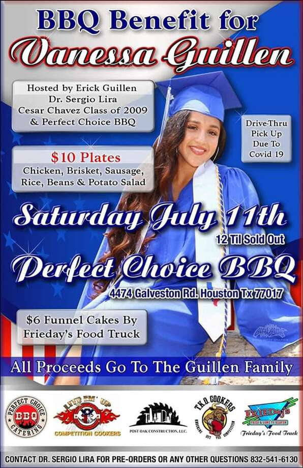 BBQ Benefit being held for Spc. Vanessa Guillén on Saturday, July 11 starting a Noon at 4474 Galveston Rd. Houston, Tx 77017. All proceeds to go to the Guillén family. Photo: Screenshot Facebook/Find Vanessa Guillen