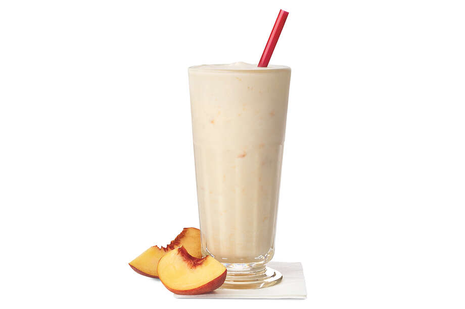 For a limited time only, peach milkshakes are back at Chick-fil-A. Photo: Chick-fil-A