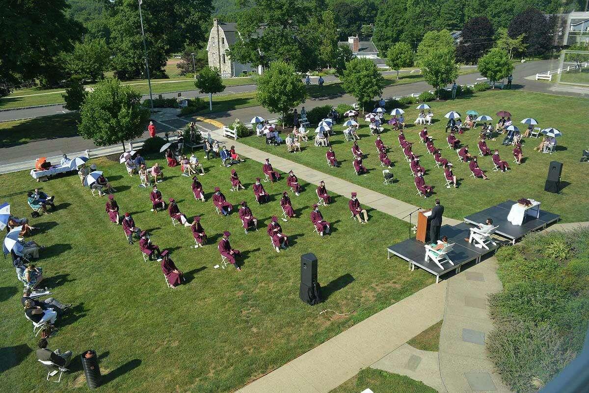 Wooster School held a socially distanced graduation on July 6.
