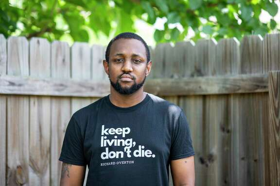 Chas Moore is the head of the Austin Justice Coalition on July 9, 2020 in Austin, Texas.
