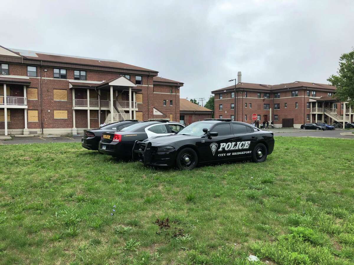 Police were on scene outside of the PT Barnum apartment complex on Friday afternoon.