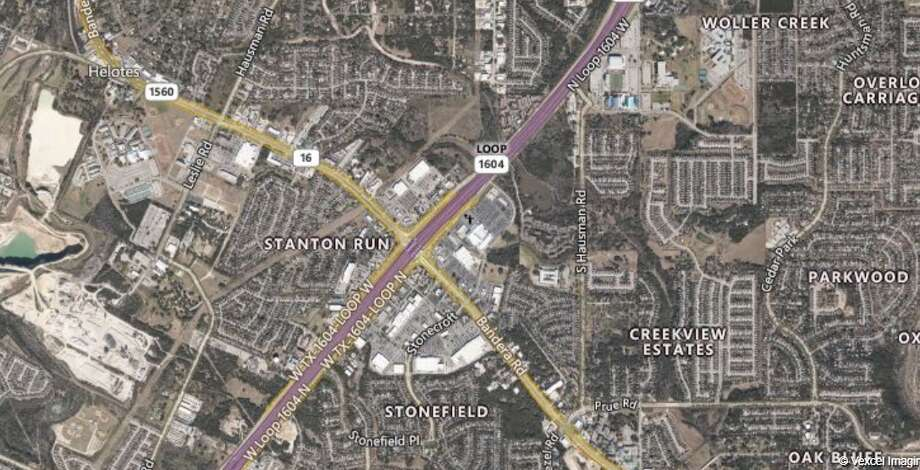 The Texas Department of Transportation will close one lane of Loop 1604 between Bandera Road and Hausman Road on Saturday. The map shows the location of he lane closure. Photo: TXDOT