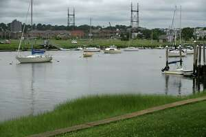 The waters of Norwalk Harbor near second Street Friday, July 10, 2020, in Norwalk, Conn.