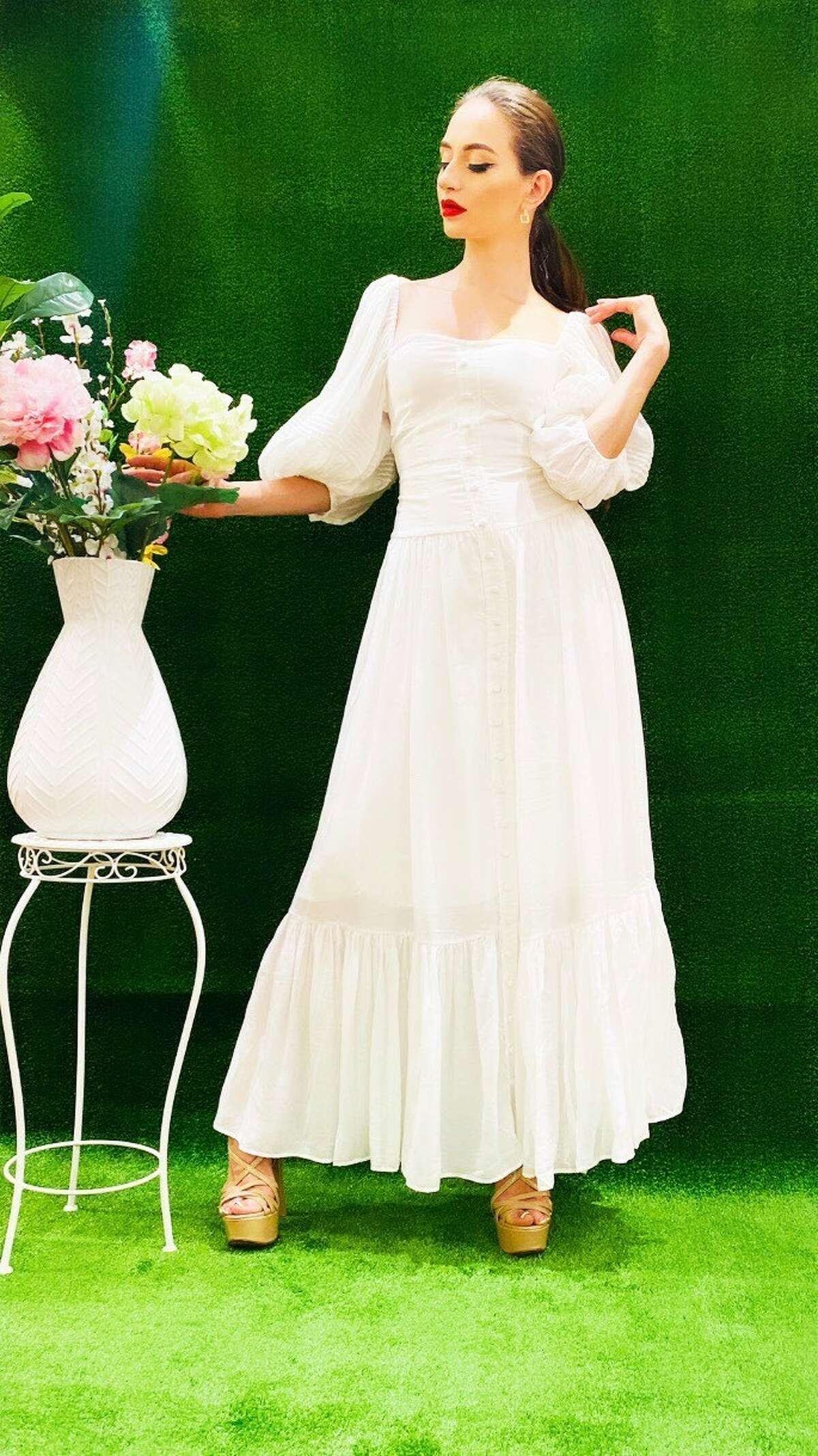 Danielle Emon's take on white, flowy dresses.
