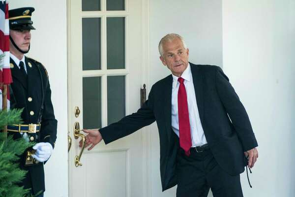 White House trade adviser Peter Navarro outside the West Wing at the White House on July 8, 2020, in Washington, D.C.