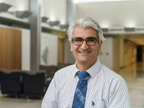 Diako Ebrahimi, a scientist at Texas Biomedical Research Institute, is studying why a protein in SARS-CoV-2 is deadlier for people with underlying cardiovascular conditions. His team is working with five other research teams in the city as part of a project funded by San Antonio Partnership for Precision Therapeutics.