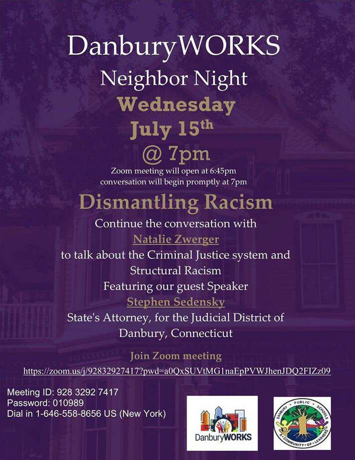 DanburyWORKS will host the forum on dismantling racism at 7 p.m. on Wednesday. Photo: DanburyWORKS Facebook