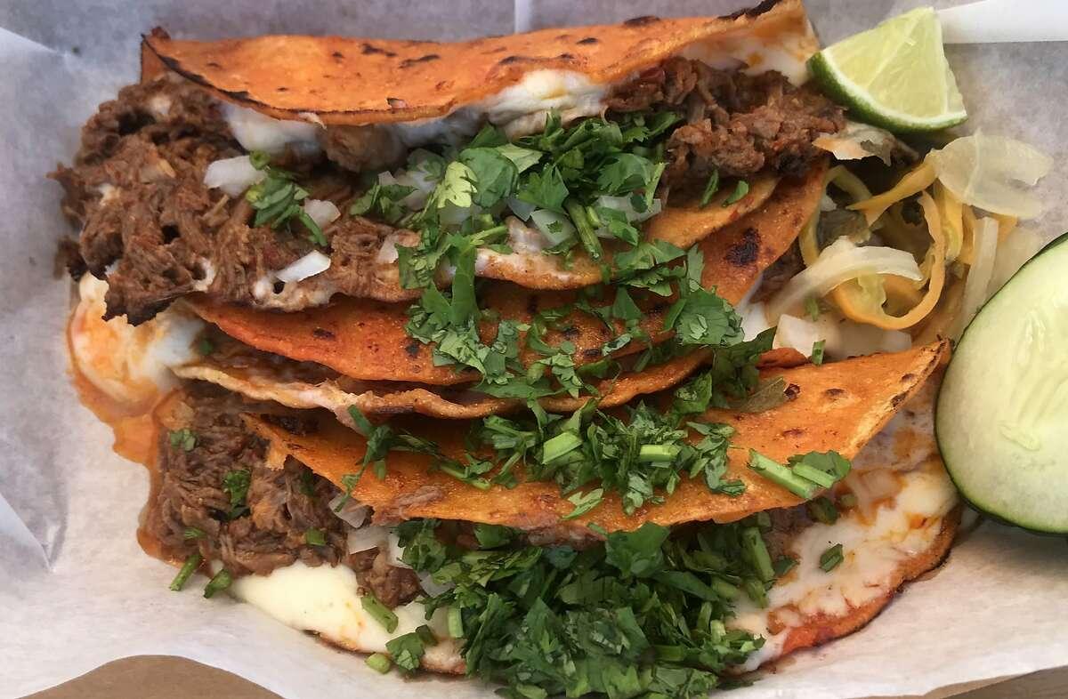Quesabirria tacos at El Garage.