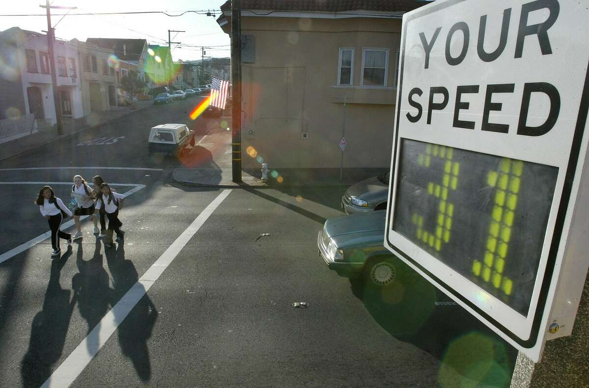 A speed radar is shown in this file photo.