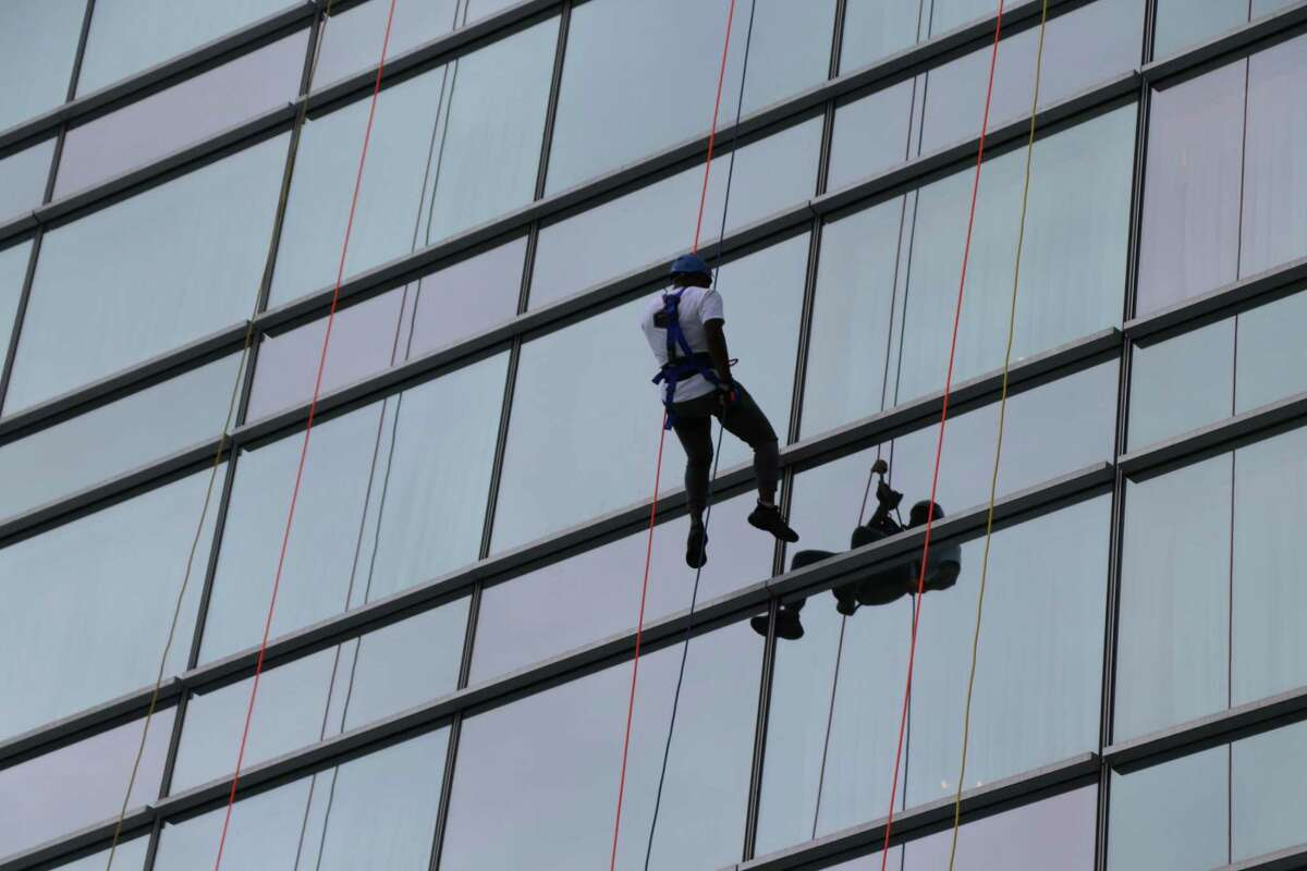 Shown are pictures from last year's Special Olympics Connecticut Over the Edge event. This year, for the first time, members of Middletown's Police Department will participate in a 30-foot rappelling exercise.