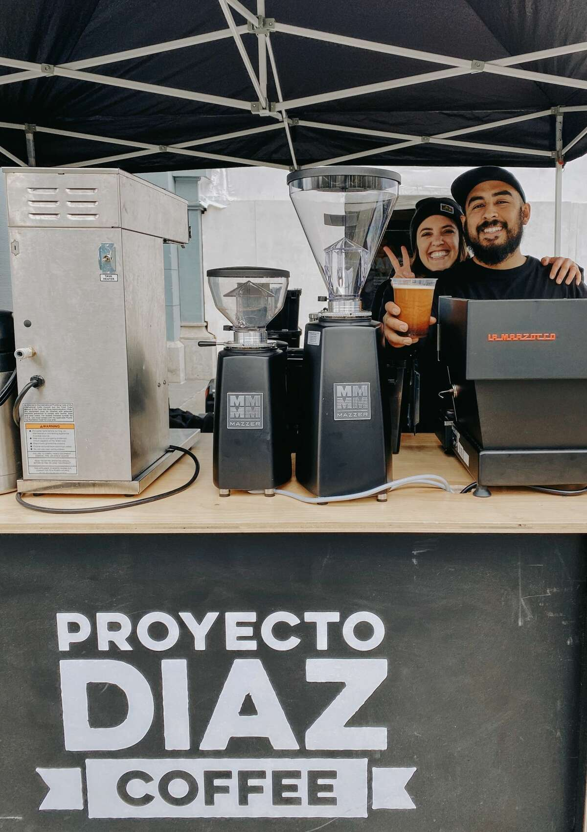 Hannah-Love Diaz and Fernando Diaz of Proyecto Diaz Coffee at the San Francisco Ferry Building Farmer's Market